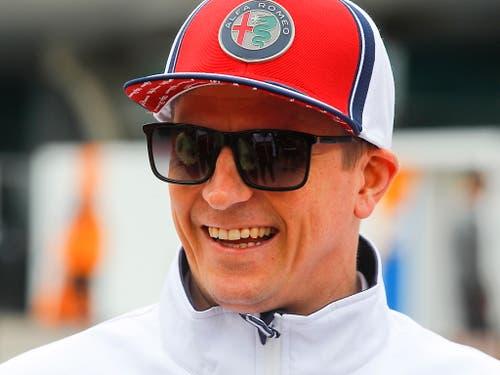 Kimi Räikkönen hat gut lachen. Er fuhr auch bei seinem dritten Einsatz für das Team Alfa Romeo in die Punkteränge (Bild: KEYSTONE/EPA/DIEGO AZUBEL)