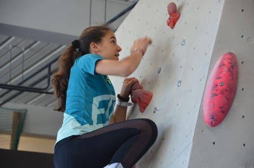 Wichtig beim Bouldern ist vor allem die Freude am Klettern.