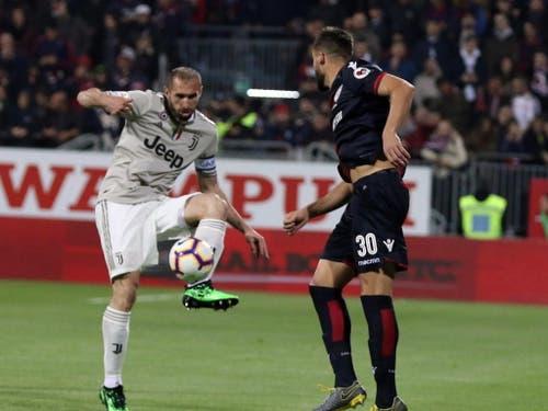 Juventus muss gegen Ajax wohl ohne Captain Giorgio Chiellini auskommen (Bild: KEYSTONE/EPA ANSA/FABIO MURRU)