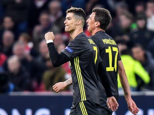 Darauf hoffen die Tifosi von Juventus: Cristiano Ronaldo in Jubel-Pose (Bild: KEYSTONE/AP/MARTIN MEISSNER)