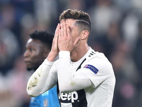 117 Mio Euro hat er gekostet, am Ende blieb nur die Enttäuschung: Auch Ronaldo führt Juventus nicht zum Triumph (Bild: KEYSTONE/EPA ANSA/ALESSANDRO DI MARCO)