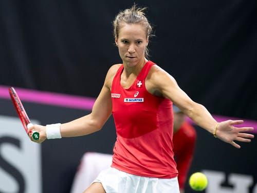 Eine von zwei routinierten Spielerinnen für die Schweiz in San Antonio: Viktorija Golubic (Bild: KEYSTONE/ANTHONY ANEX)