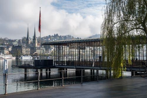 Die SGV Landungsbrücke wird nach einer umfassenden Sanierung für die Öffentlichkeit wieder zugänglich. (Bild: Dominik Wunderli, 17. April 2019, Luzern)
