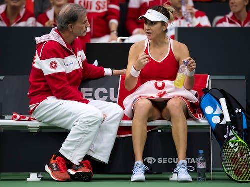 Ohne die Teamleaderin: Heinz Günthardt muss in Texas auf Belinda Bencic verzichten (Bild: KEYSTONE/ANTHONY ANEX)