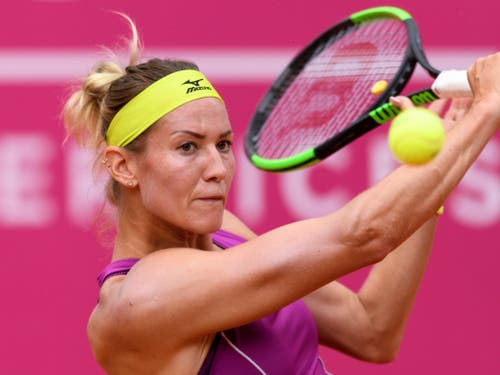 Erstes Fed-Cup-Aufgebot: Conny Perrin (Bild: KEYSTONE/ANTHONY ANEX)