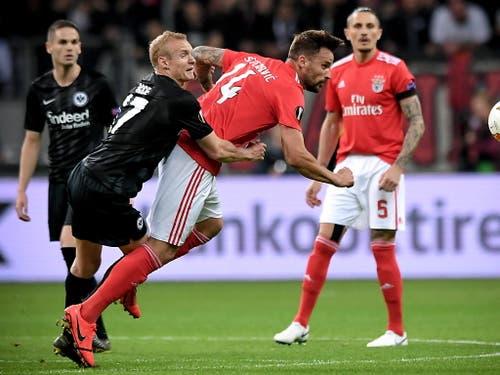 Haris Seferovic und Benfica Lissabon blieben ohne Fortune und schieden in den Viertelfinals aus (Bild: KEYSTONE/EPA/SASCHA STEINBACH)