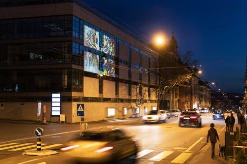 «Stadtprojektionen III»: Maya Rochat an der Zürcher Strasse 45. (Bild: Michel Canonica)