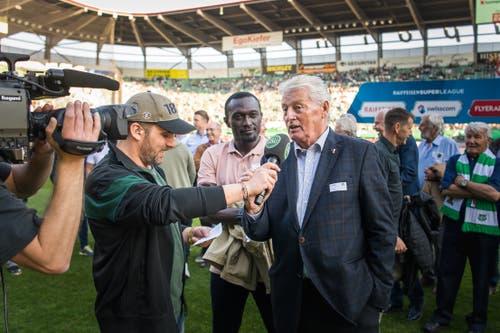 FCSG-Jubiläum: Bilder von den Jubiläumsaktivitäten rund ums Stadion und im StadionMichel Canonica / TAGBLATT