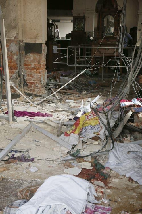 Das Innere der Sankt-Anthony-Kirche wurde durch den Anschlag zerstört.