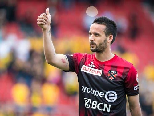 Raphaël Nuzzolo glänzte für einmal nicht als Torschütze, sondern als Vorbereiter (Bild: Keystone/GABRIEL MONNET)