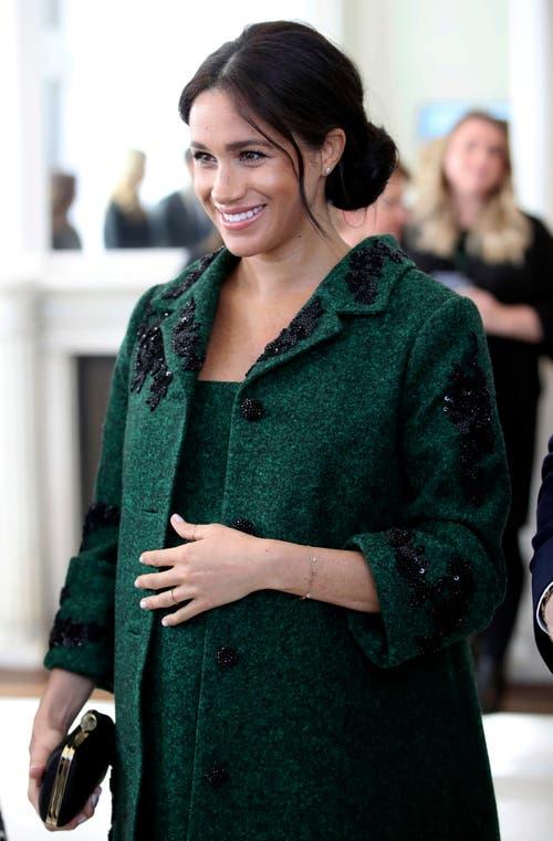 Die schwangere Meghan Markle, Duchess von Sussex. (Bild: Chris Jackson/Keystone)