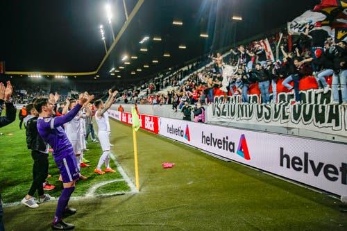 Der FC Thun steht zum zweiten Mal in seiner Klubgeschichte im Schweizer Cupfinal. (Bild: Claudio Thoma / Freshfocus, Luzern, 23. April 2019)