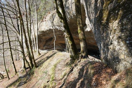 Das Betreten der Salpeterhöhle ist seit einem Deckeneinsturz verboten.