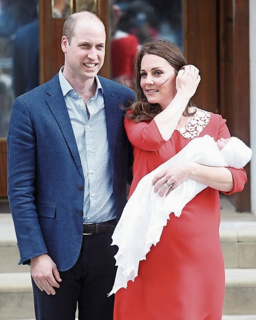 William und Kate nach der Geburt ihres dritten Kindes vor dem St. Mary's Hospital. (Bild: Chris Jackson/Getty (23. April 2018))