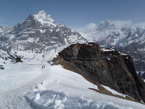 Wunderschöne Bergwelt, noch im Schnee. (Bild: Bruno Ringgenberg, Grindelwald First, 22. April 2019)