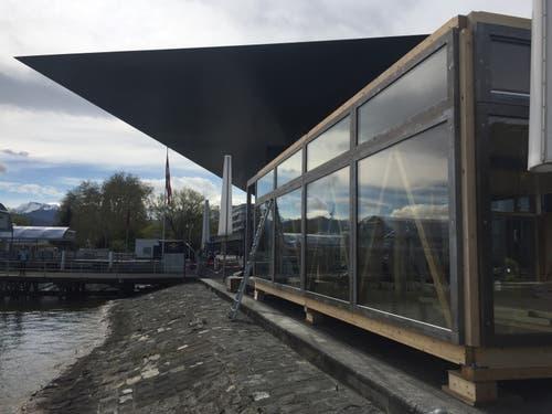 Der «Quadrin» wird gut bewacht vom KKL-Dach. (Bild: Martin Barth, WTFL)