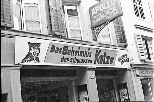 Carl Spitteler ging regelmässig ins Kino Apollo in der Hertensteinstrasse (heute Schuhhaus Tschümperlin). (Bild: Nachlass Carl Spitteler, Schweizerisches Literaturarchiv, Bern)