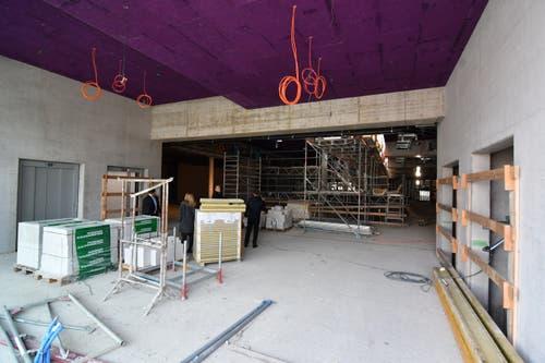 1. Obergeschoss. Aufzugsbereich auf der Seite des Amriville.