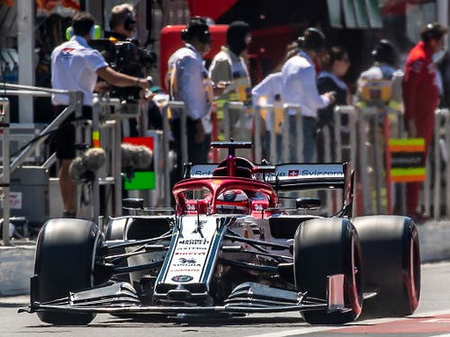 Kimi Räikkönen fuhr auch im vierten Saisonrennen in die Punkteränge (Bild: KEYSTONE/EPA/SRDJAN SUKI)