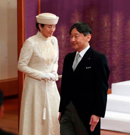 Der neue Kaiser Naruhito (rechts) und Prinzessin Masako. (Bild: Japan Pool via AP)