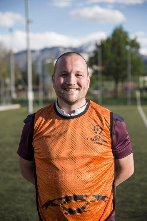 Touch-Rugby beim Training auf der Allmend. Im Bild: Marco Felder, Präsident Rugbyclub Luzern. (Bild: Manuela Jans-Koch, Luzern, 25. April 2019)