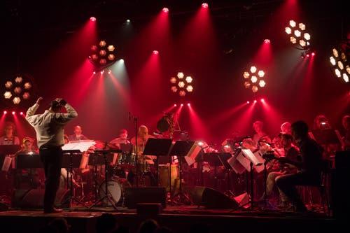 Das Gitarreorchester im Kollegi Stans. (Bild: Boris Bürgisser, Stans, 30. April 2019)