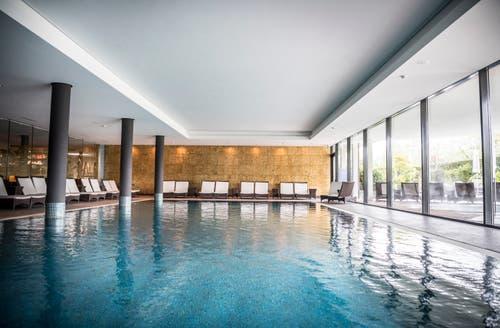 Ort der Entspannung: der Indoor-Pool. Bild: Andrea Stalder