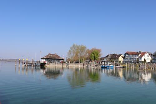 Der Hafen auf der Insel ist der erste Stopp auf dem Weg nach Berlingen. (Bild: Marlen Hämmerli)