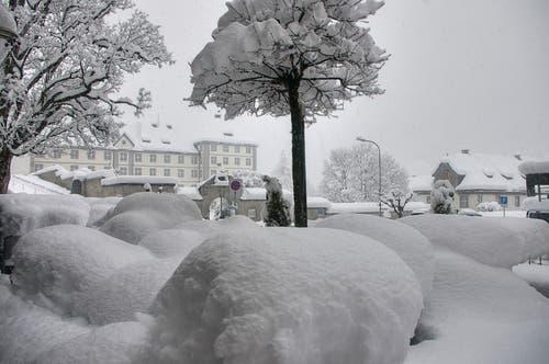 Schneekissen in Engelberg. (Bild: Caroline Pirskanen)