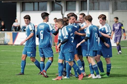 Die Spieler der zweiten Widnauer Mannschaft taten sich gegen Montlingen II lange schwer, konnten aber am Ende über den neunten Sieg im zehnten Spiel der Saison jubeln.