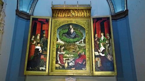 Flügelaltar in der Kathedrale mit Roi René links und seiner zweiten Gattin Jeanne rechts.