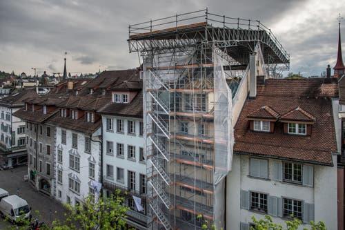Normalerweise erhält man nur diese Ansicht des Hotels Schlüssel. (Bild: Pius Amrein, 30. April 2019)