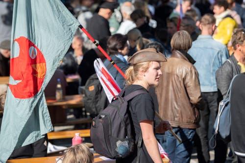 1. Mai in St. Gallen: Umzug und Demo durch die St. Galler Altstadt © Urs Bucher/TAGBLATT