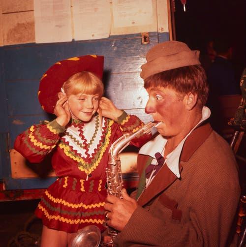 Clown Pio (Pius) Nock ist eines der berühmtesten Mitglieder der Nock-Familie. (Bild: ETH-Bibliothek Zürich/ Comet Photo)