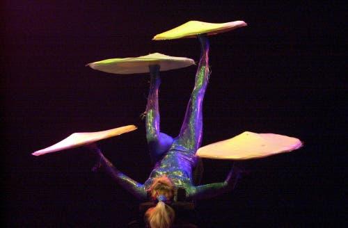 Die russische Akrobatin Elena Tchipokova 2001 in Frick. (Bild: KEYSTONE/Dominik Pluess)