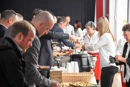 Für das leibliche Wohl sorgte das Catering-Team der TOM. (Bild: Urs M. Hemm)