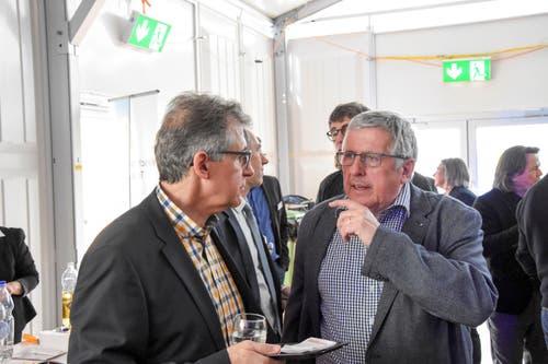 René Sutter, Ebnat AG, und Ueli Mauerhofer, Heberlein AG. (Bild: Urs M. Hemm)