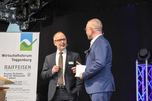Stefan Kölliker mit Moderator Patrick Rohr. (Bild: Urs M. Hemm)
