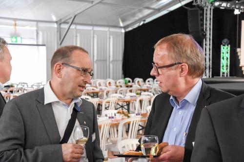 Peter Burkhard, Würth Financial Services AG und Daniel Blatter, Region Toggenburg. (Bild: Urs M. Hemm)