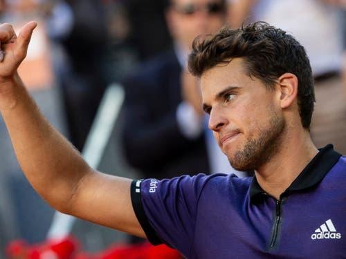 Sie stehen am Samstag in Madrid in den Halbfinals: Federer-Bezwinger Dominic Thiem trifft auf ... (Bild: KEYSTONE/AP/BERNAT ARMANGUE)