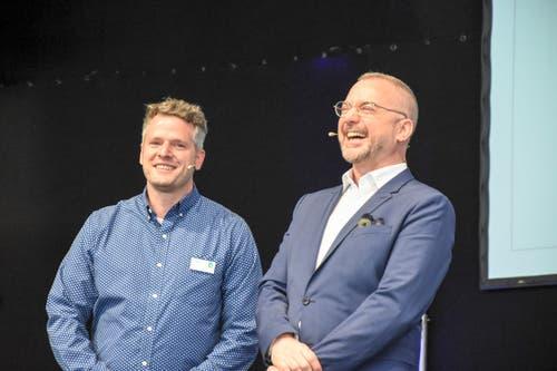 Stefan Merz mit Patrick Rohr. (Bild: Urs M. Hemm)
