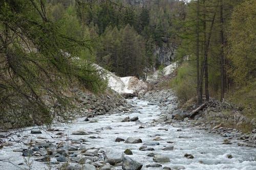 Die Mattervispa vor Zermatt. (Bruno Ringgenberg, Täsch-Zermatt, 11. Mai 2019)
