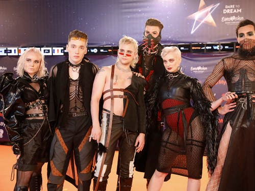 Auch Hatari of Iceland nehmen am Eurovision Song Contest in Tel Aviv teil. (Bild: KEYSTONE/AP/ARIEL SCHALIT)