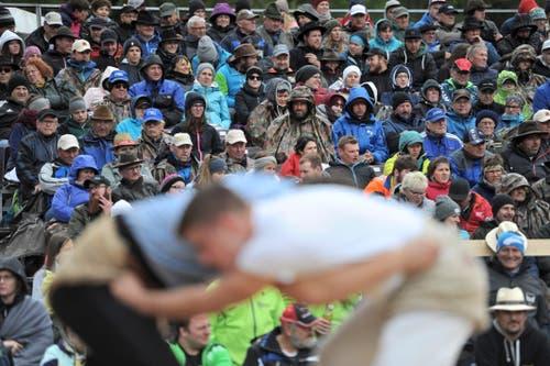2800 Besuchern verfolgten die teils spektakulären Wettkämpfe am Urner Kantonalen Schwingfest in Bürglen. (Bild: Urs Hanhart, Bürglen, 12. Mai 2019)
