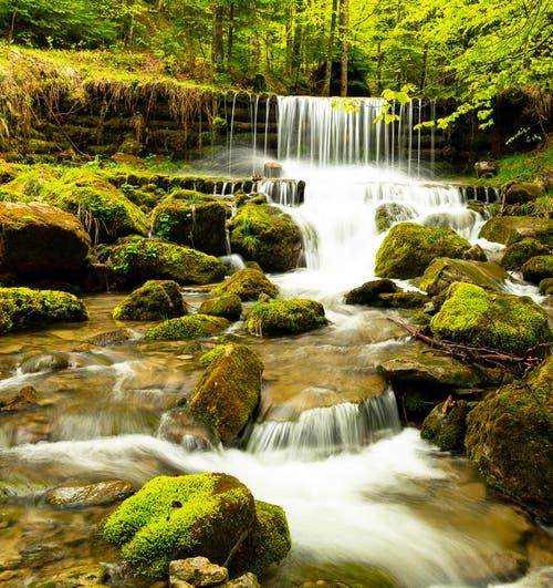 Und ruhig fliesst das Wasser im Alplibach. (Bild: Bernadette Hotz)
