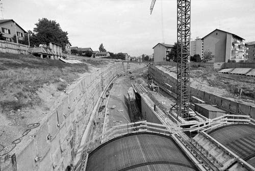 Tagbau im Bereich des Stephanshorntunnels.