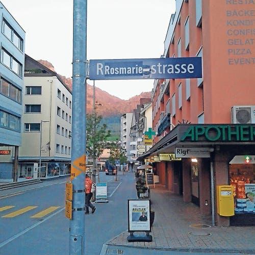 Nochmals in Goldau: Aus der Rossberg- wurde die Rosmarie-Strasse.