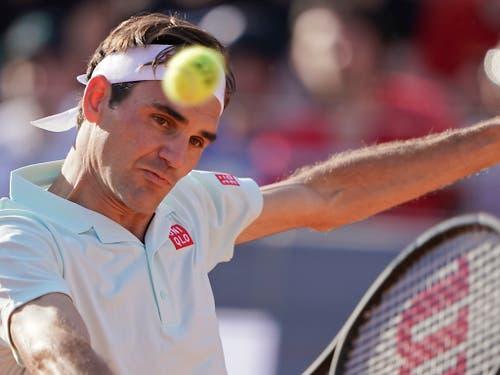 Gegen Coric passt im Spiel von Federer nicht alles (Bild: KEYSTONE/AP/ANDREW MEDICHINI)