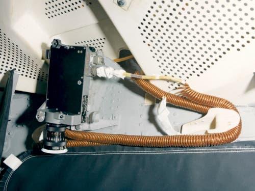 Die Datenerfassungskamera in der Apollo-10-Landefähre war mit Objektiven der Aarauer Firma Kern ausgerüstet. Eine weitere, ebenso bestückte Kamera befand sich im Command Service Module. (Bild: Nasa)