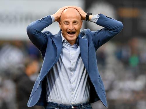 Für Peter Zeidler und den FC St. Gallen bleibt der FC Lugano ein unliebsamer Gegner (Bild: KEYSTONE/TI-PRESS/SAMUEL GOLAY)